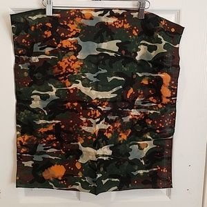 "Camo hand dyed custom bandana 21"" new"